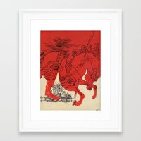 catcher in the rye Framed Art Prints featuring Catcher by Julia Lopez