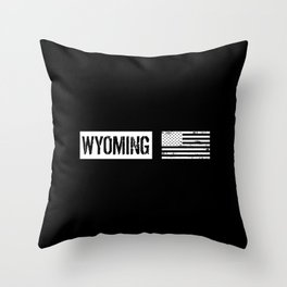 US Flag: Wyoming Throw Pillow