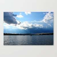 cape cod Canvas Prints featuring Cape Cod by NJ Swimm