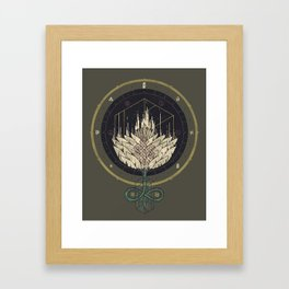 Fading Dahlia Framed Art Print