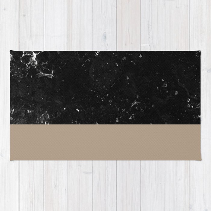 Sepia Meets Black Marble #1 #decor #art #society6 Rug