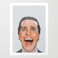 american psycho Art Prints featuring American Psycho by HonickDesign
