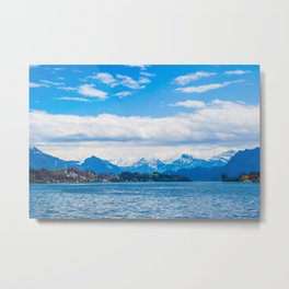 Endless Lake Lucerne Metal Print
