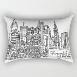 Busy City – Frankfurt am Main Rectangular Pillow