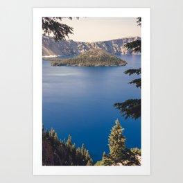 Wild Blue Lake Art Print