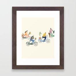 Amsterdam Traffic Framed Art Print