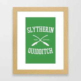 Hogwarts Quidditch Team: Slytherin Framed Art Print