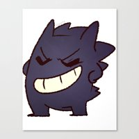 gengar Canvas Prints featuring Gengar by Sonny