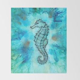 Seahorse Throw Blanket