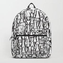 Chess Pattern II WHITE Backpack