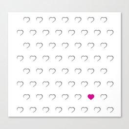 Hearts - Pink Canvas Print