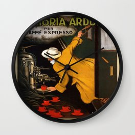 Vintage poster - Vitctoria Arduino Wall Clock