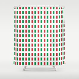 flag of Italia- Italy,Italia,Italian,Latine,Roma,venezia,venice,mediterreanean,Genoa,firenze Shower Curtain