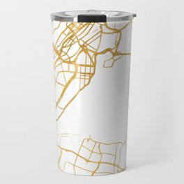MONTREAL CANADA CITY STREET MAP ART Travel Mug