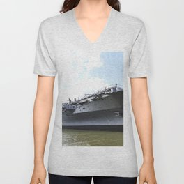 The Intrepid Sea Air and Space Museum in New York City will be the new home of the space shuttle Ent Unisex V-Neck