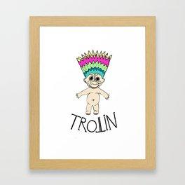 Trollin Framed Art Print