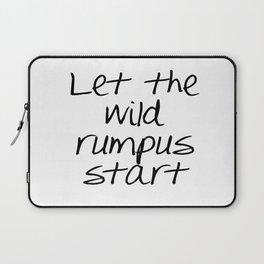 Let the wild rumpus start Laptop Sleeve