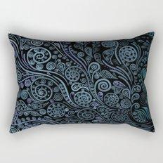 3D ornaments, blue Rectangular Pillow