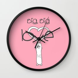 Big, big LOVE Wall Clock