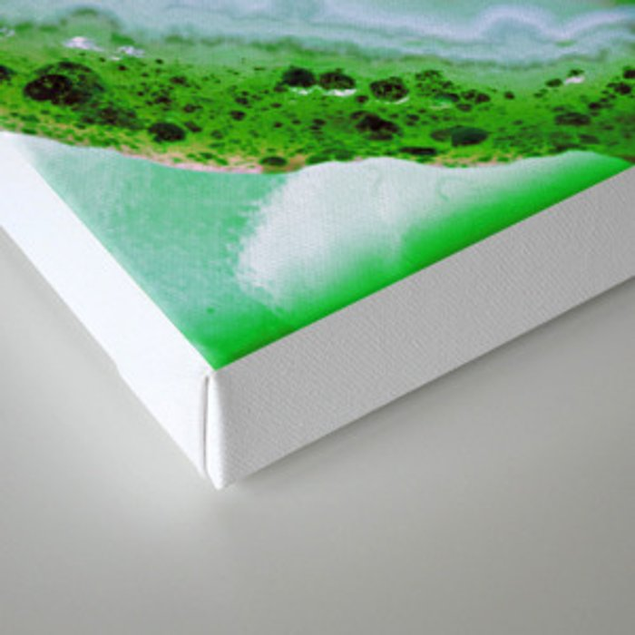 green colored agate Canvas Print