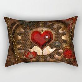 Steampunk, awesome steampunk heart Rectangular Pillow