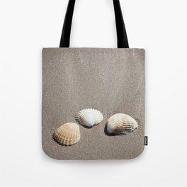 Three Seashells Tote Bag