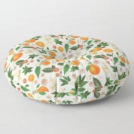 Clementine Crush in Cream Floor Pillow