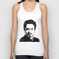 robert downey jr Tank Tops featuring Robert Downey Jr. by ArDem
