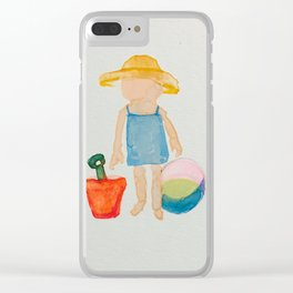 Toddies Summer Beach Holiday Baby Girl Clear iPhone Case