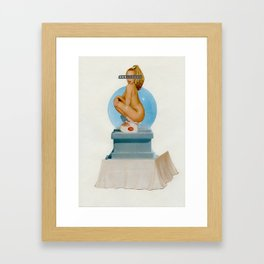 Naked on the Moon Framed Art Print
