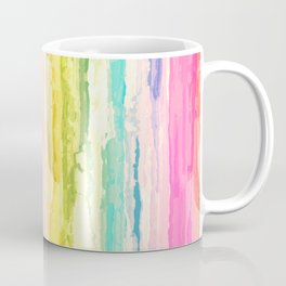 Colorful Streaked Stripes Coffee Mug