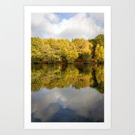 Cannop Reflections Art Print