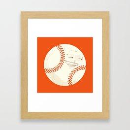 Happy Baseball Framed Art Print