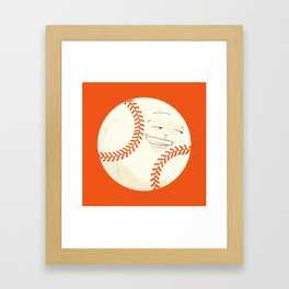Happy Baseball Framed Art Print