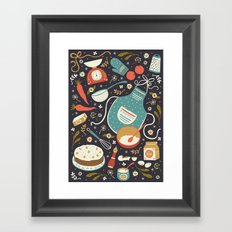 Carrot Cake Framed Art Print