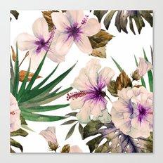 Watercolor Tropical Hibiscus 1 Canvas Print