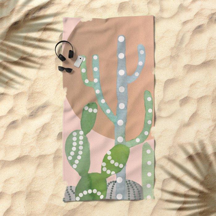 BOHO CACTUS Beach Towel