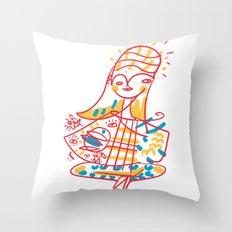 Hang on, Baby Throw Pillow