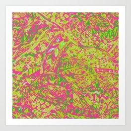 Hawaian Ancient Pai Pai Patten Art Print