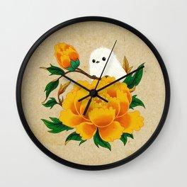 Minhwa: Crow-Tit and Peony B Type Wall Clock