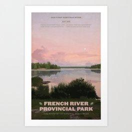 French River Provincial Park Art Print
