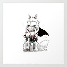 Paladin Turkish Angora Cat Art Print