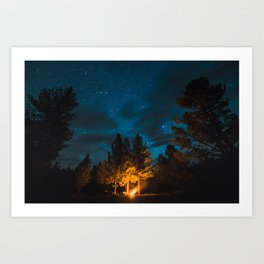 Camp is Where the Light Is Art Print