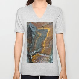 Abstract rock art Unisex V-Neck