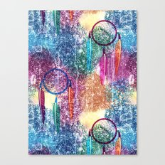 Watercolors&Dreamcatchers Canvas Print