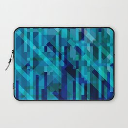 abstract composition in blues Laptop Sleeve
