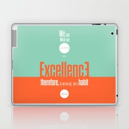 Lab No. 4- Aristotle Quote motivational typography Quote Poster Laptop & iPad Skin