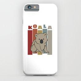 Cute Retro Koala iPhone Case