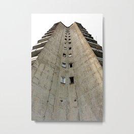 Belgrade Concrete Metal Print