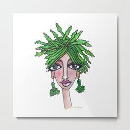 Asparagus Girl Metal Print